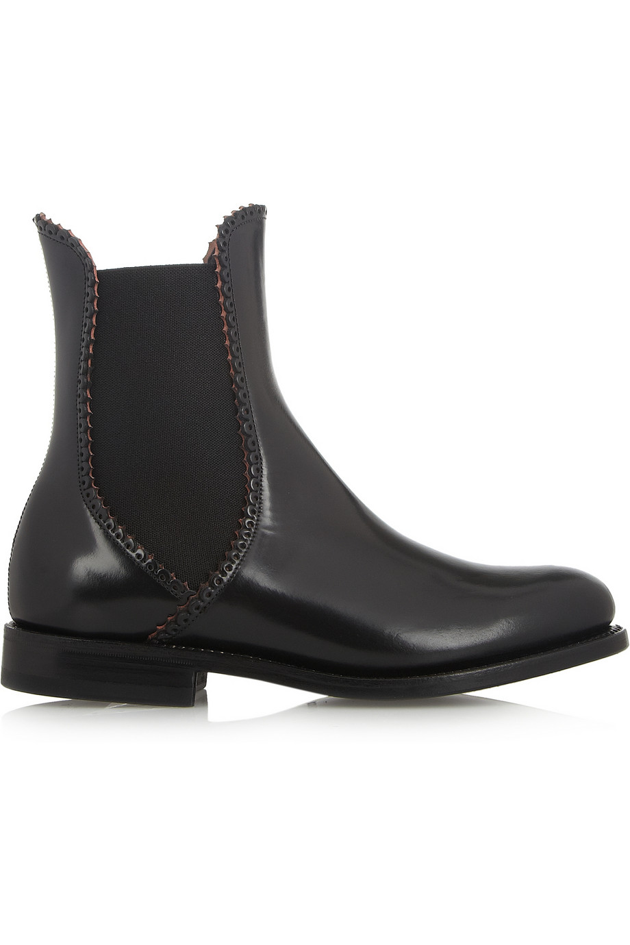 Black chelsea Leather ankle boots Alaia Clearance Best Seller Pictures Cheap Amazing Price rXTqXqqr