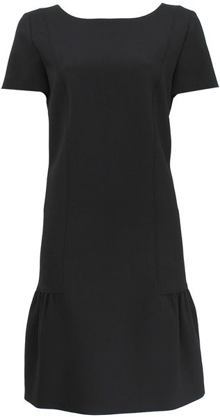 Alberta Ferretti Monostretch Crepe Dress - Lyst