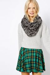 Asos Textured Knit Snood - Lyst