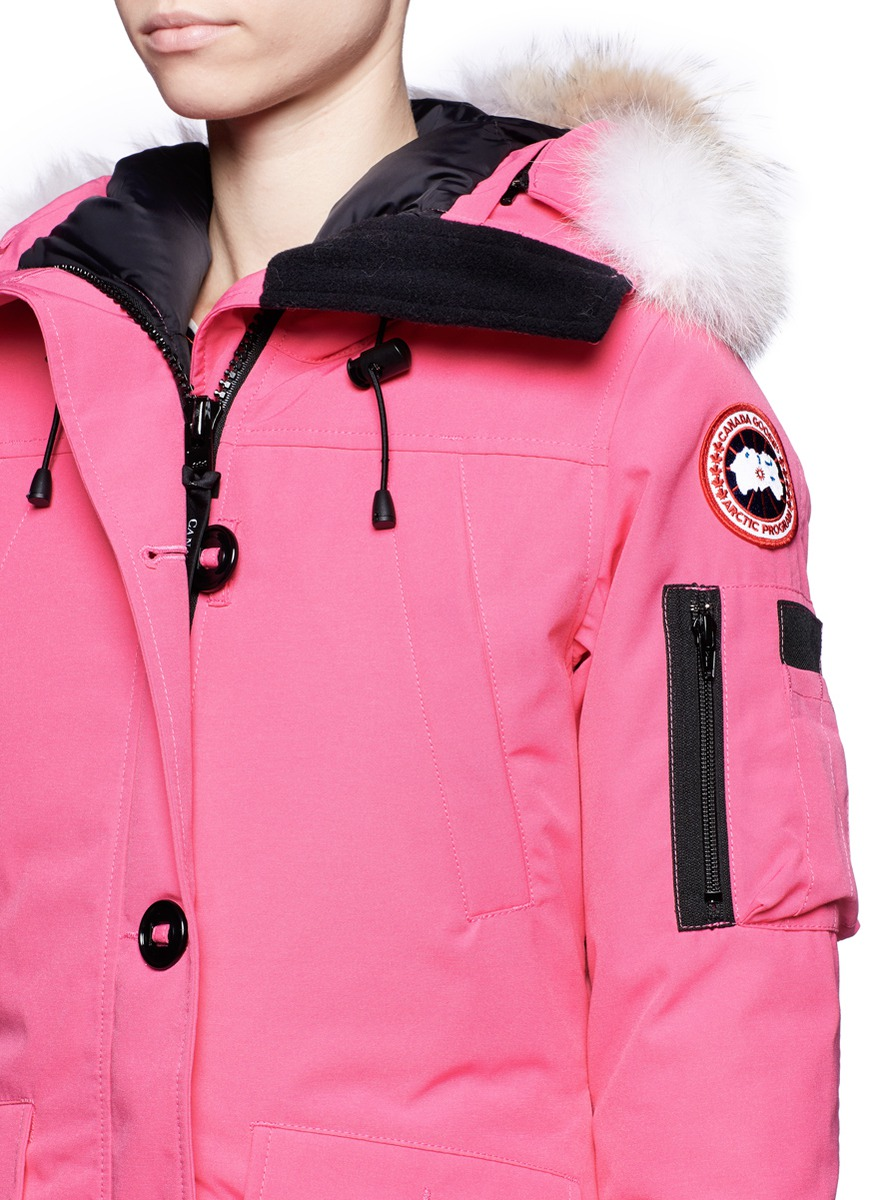 pink canada goose jacket