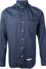 Dnl Button Down Shirt - Lyst
