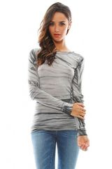 Enza Costa Bold Long Sleeve Crew Neck Tee - Lyst