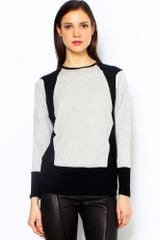 Helmut Lang Angora Cozy Carved Long Sleeve Top - Lyst