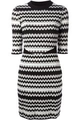 M Missoni Wavy Striped Knit Dress - Lyst