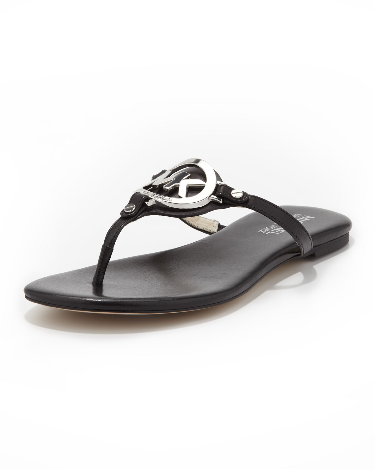 69ce1a4f5c6f Lyst - Michael Kors Michael Melodie Logo Thong Sandal in Black