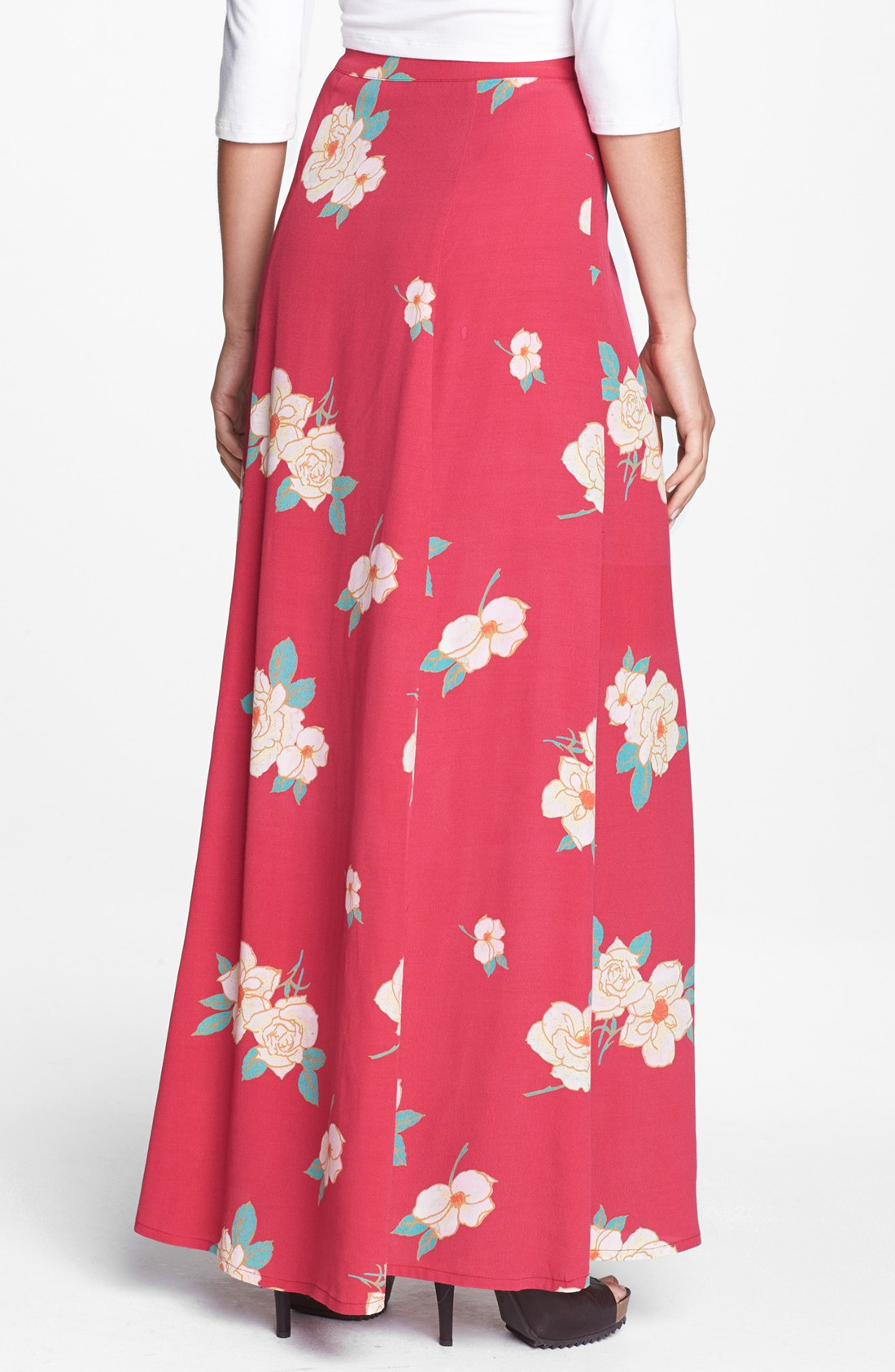 Mink pink floral maxi skirt – Modern skirts blog for you