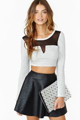 Nasty Gal Dimension Crop Top - Lyst
