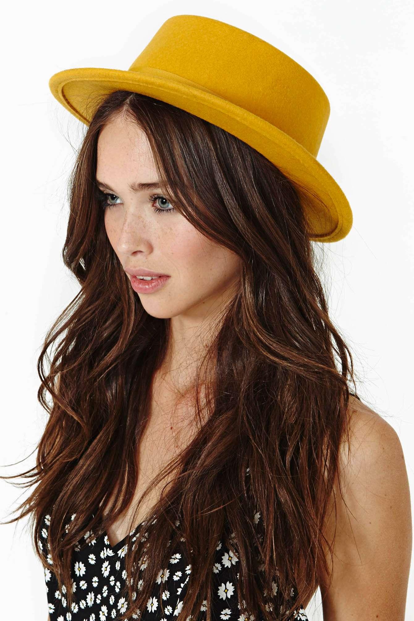 f85da0d18bf58 ... promo code for lyst nasty gal brixton avenue hat in yellow cc5ea 43920