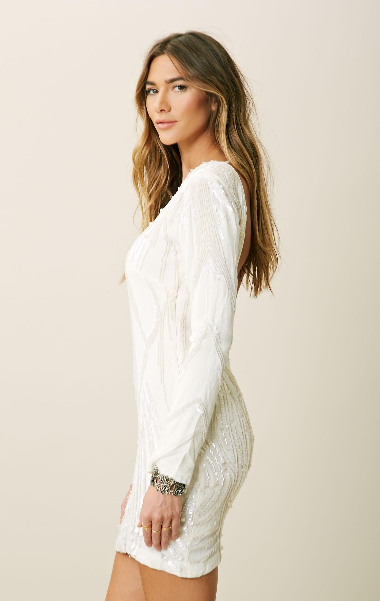 Long Ivory Dresses