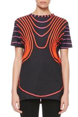 Christopher Kane Grid Face Digital Tshirt Blackredpink - Lyst