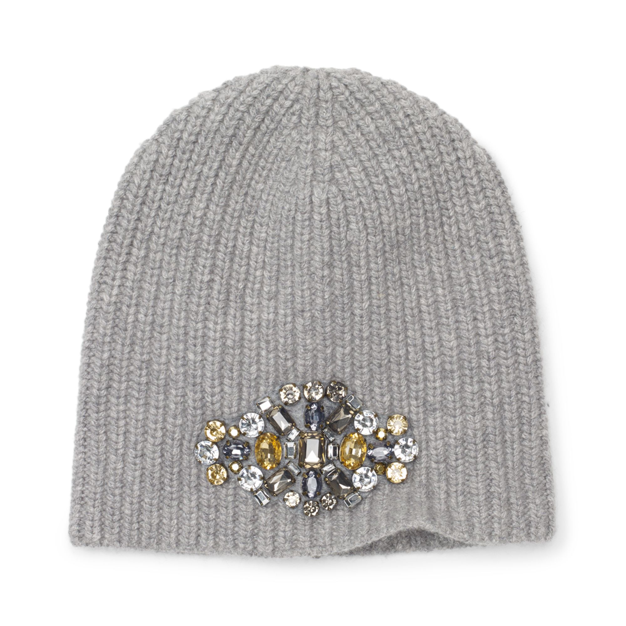 99935fd9136 Lyst - Club Monaco Ana Embellished Angora Hat in Gray