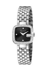 Gucci G 24mm Stainless Steel Link Bracelet Watch with Diamonds - Lyst