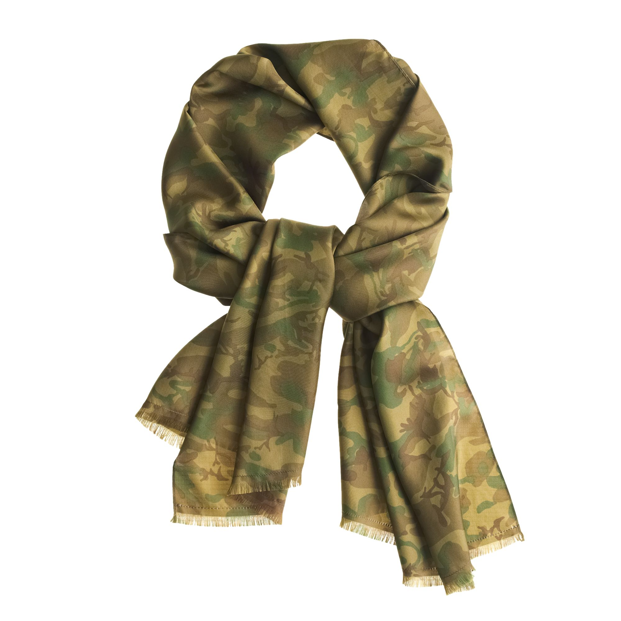 camouflage silk scarf in green for men camo lyst. Black Bedroom Furniture Sets. Home Design Ideas