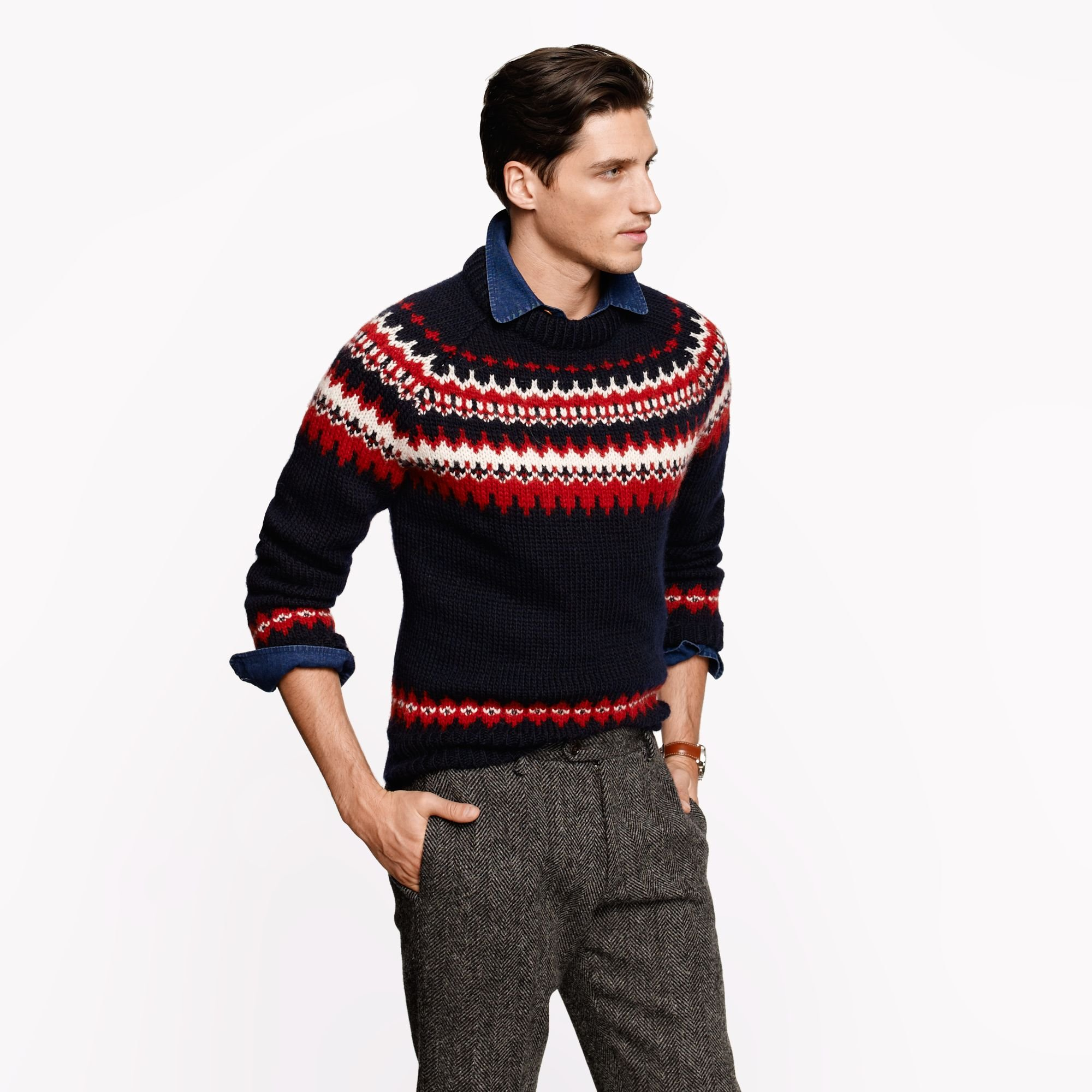 J.crew Ramsay Fair Isle Sweater in Blue for Men | Lyst