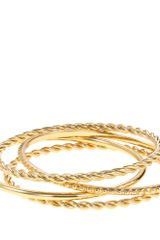 J.Crew Textured Bangle Set - Lyst