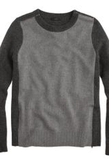 J.Crew Doublezip Sweater in Colorblock - Lyst