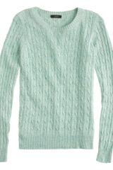 J.Crew Preorder Cambridge Cable Crewneck Sweater - Lyst