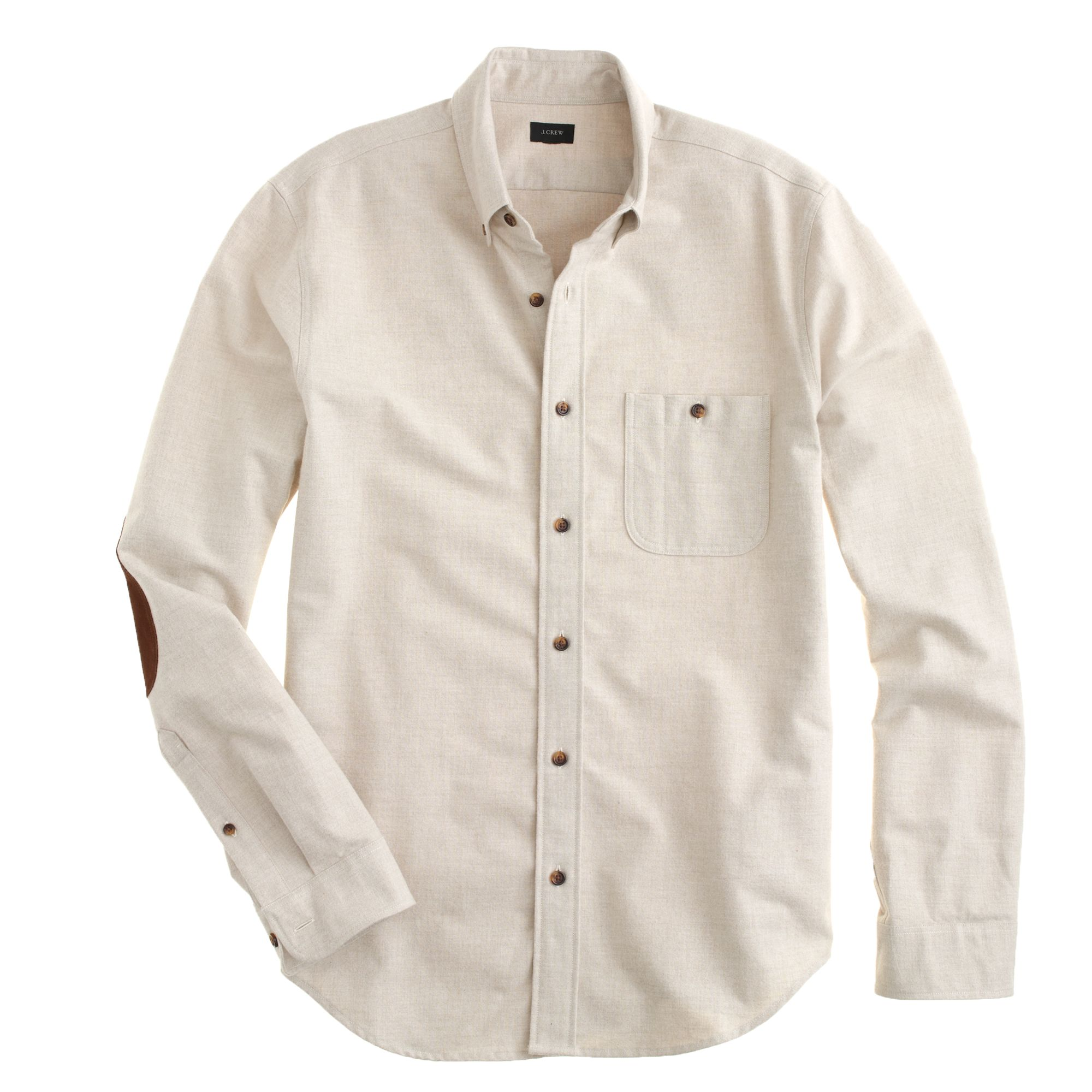 J crew heathered chamois elbowpatch shirt in beige for men