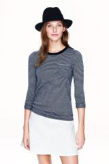 J.Crew  Cashmere Long Sleeve Tee in Thin Stripe - Lyst