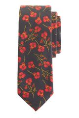 J.Crew Liberty Tie in Navy Twilight Floral - Lyst