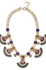 J.Crew Jeweled Fan Necklace - Lyst