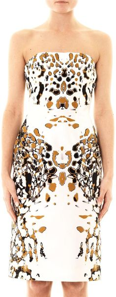 Josh Goot Leopard Vector Strapless Dress - Lyst
