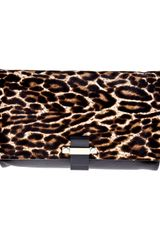 Lanvin Leopard Clutch Bag - Lyst