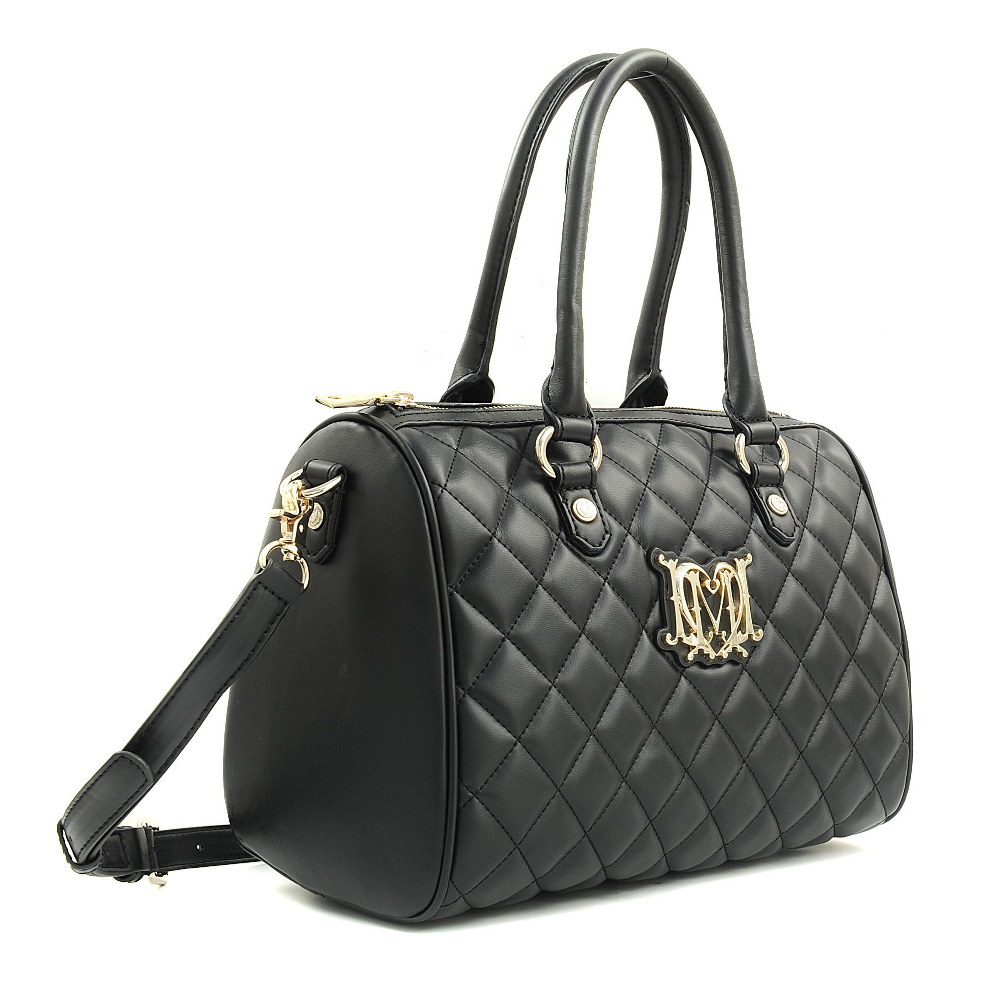 love moschino super quilted bowling bag in black lyst. Black Bedroom Furniture Sets. Home Design Ideas