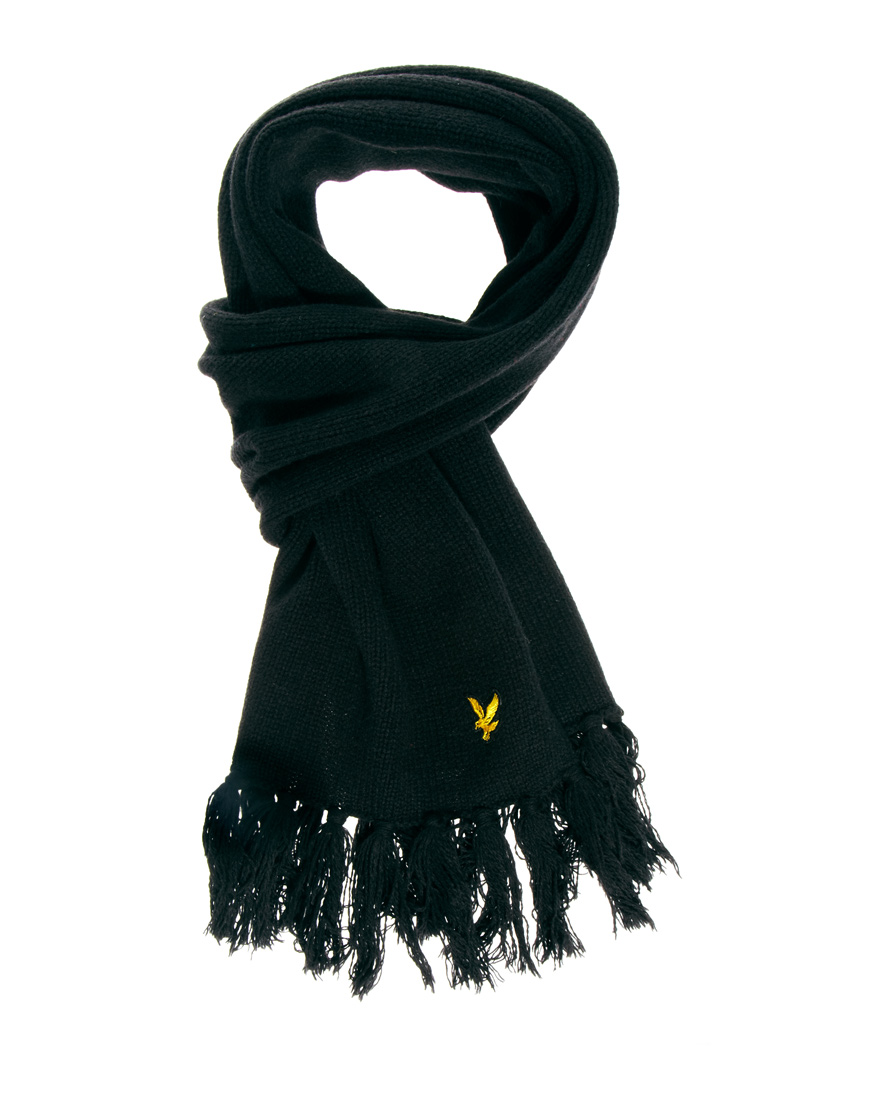 lyle classic scarf in black for lyst