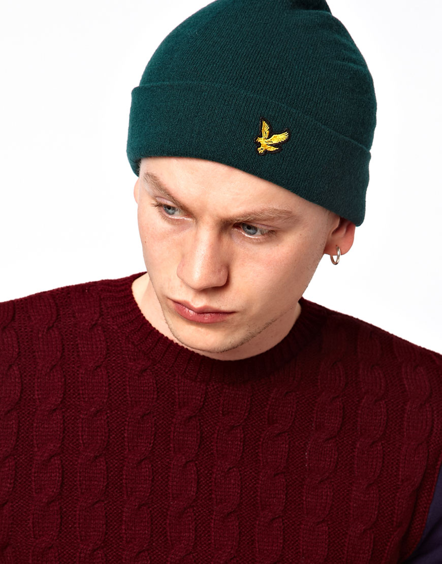 9c0fe3689273e Lyle   Scott Classic Beanie Hat in Green for Men - Lyst