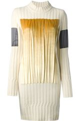 Maison Martin Margiela Pleated Panel Sweater Dress - Lyst