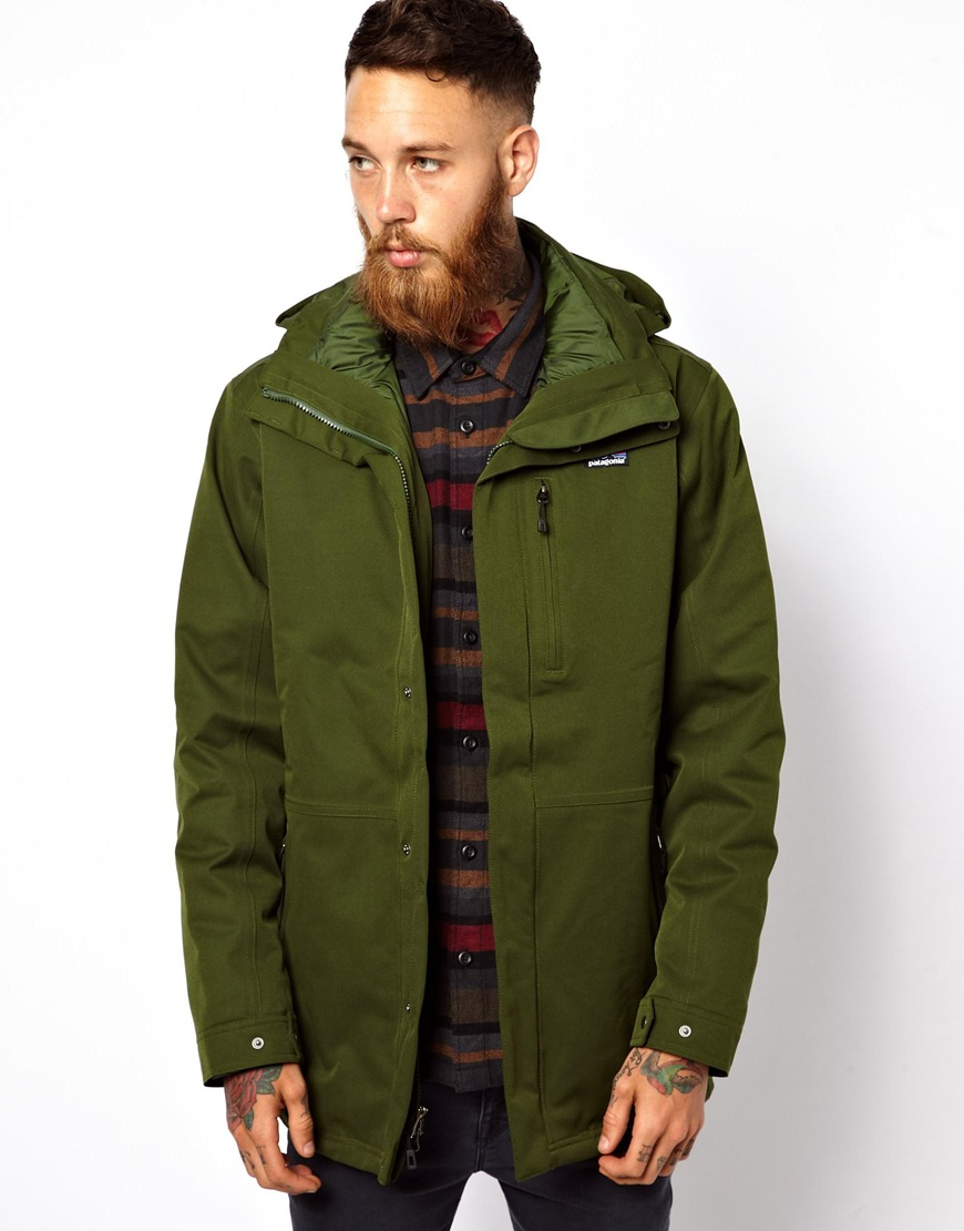 Majestic Patagonia Tres 3 in 1 Parka in Green for Men - Lyst