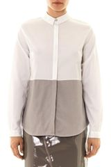 Richard Nicoll Colour-Block Cotton Shirt - Lyst