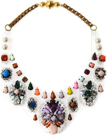 Shourouk Melancholia Embellished Bib Necklace - Lyst