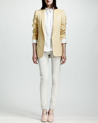 Stella McCartney Tailored Onebutton Jacket Chamomile - Lyst