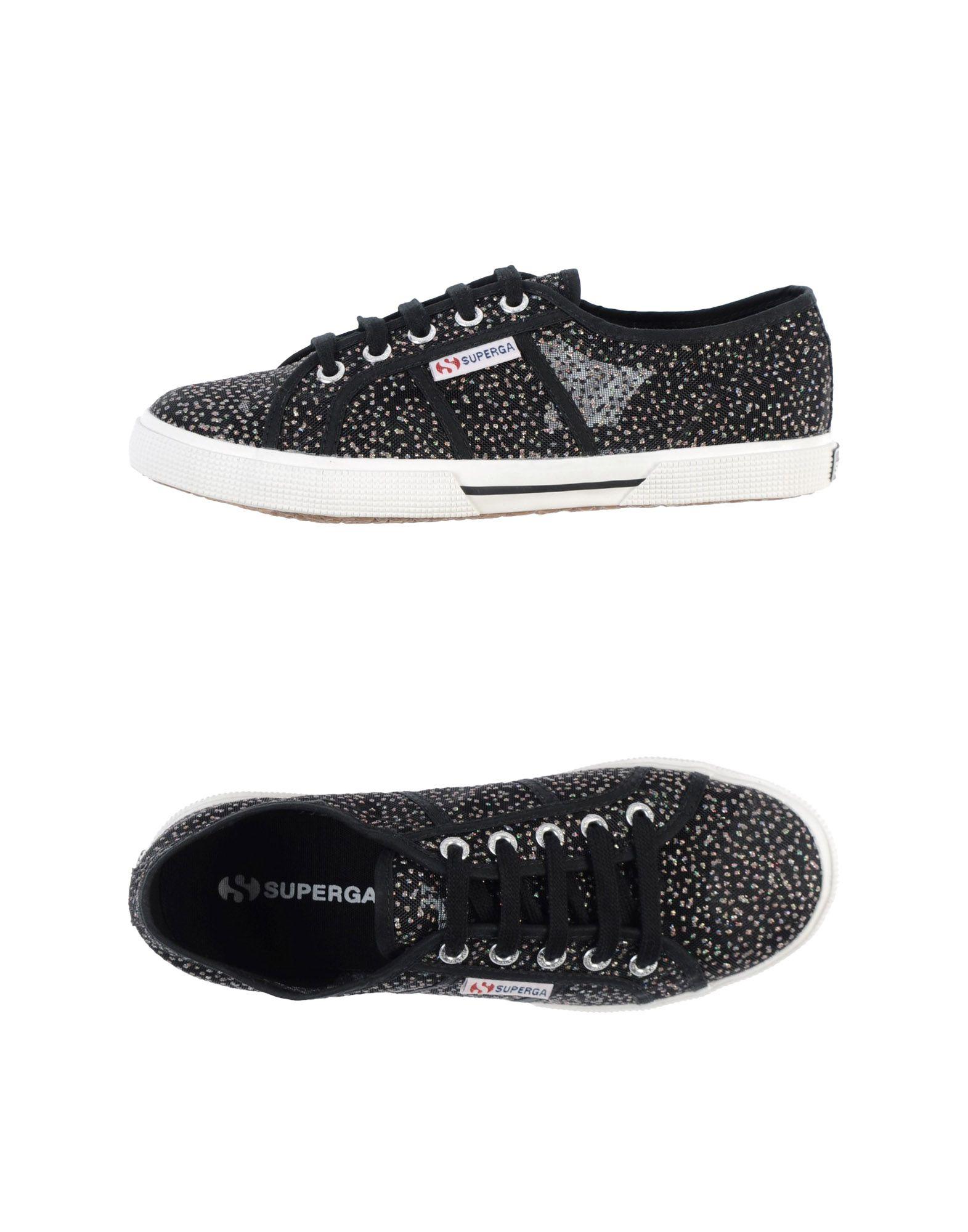 Superga: Superga Sneakers In Gray (Black)