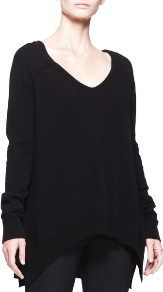 The Row Cashmere Vneck Trapeze Sweater - Lyst