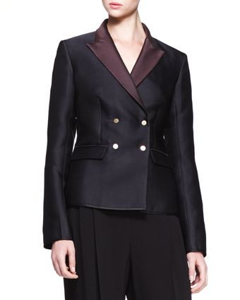 The Row Doublebreasted Bicolor Blazer - Lyst