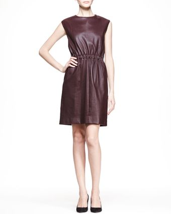The Row Capsleeve Leather Dress - Lyst