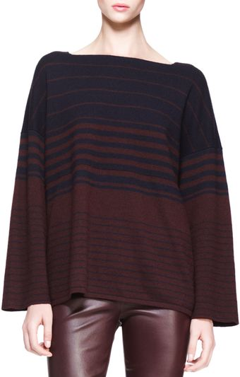 The Row Oversized Multistripe Sweater - Lyst