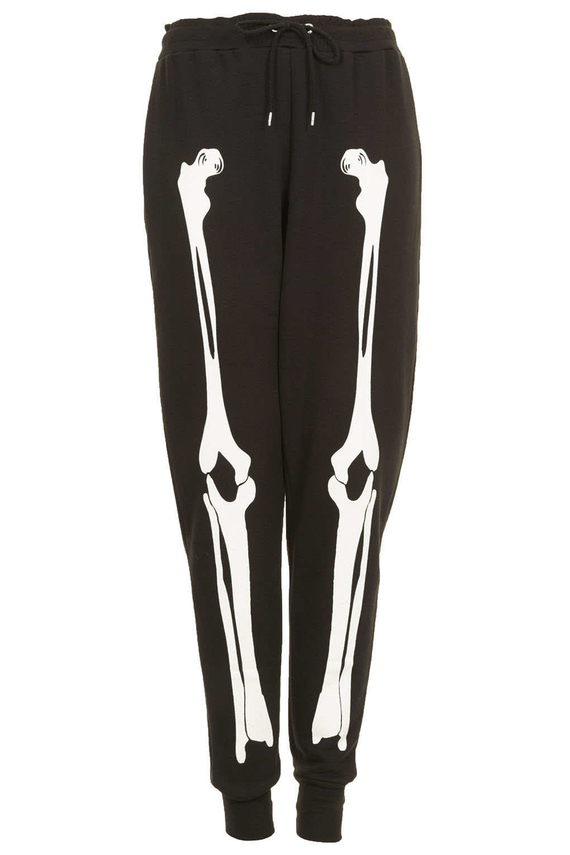 Skeleton Leggings Black /& White Bone Pants Halloween Costume Pants