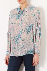 Topshop Small Flower Print Shirt - Lyst
