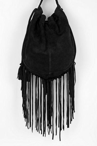Ecote Suede Fringe Shoulder Bag 113