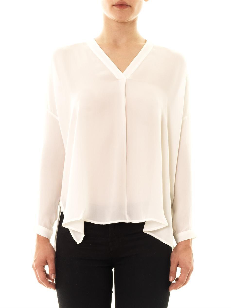 Long Sleeve Cotton Blouse