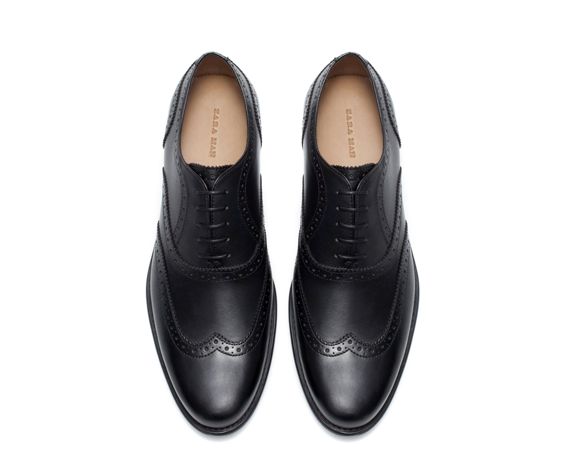Zara Wingtip Oxford Shoe in Black for Men | Lyst