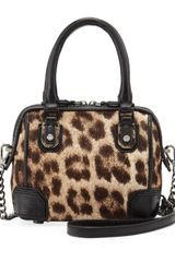 Alice + Olivia Alice Olivia Olivia Mini Calf Hair Shoulder Bag Leopard - Lyst