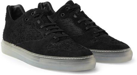 16cc62e3f684 Balenciaga Men s Arena Leather Suede Sneakers