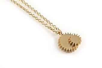 Clarice Price Thomas Gold Double Winding Wheel Necklace - Lyst