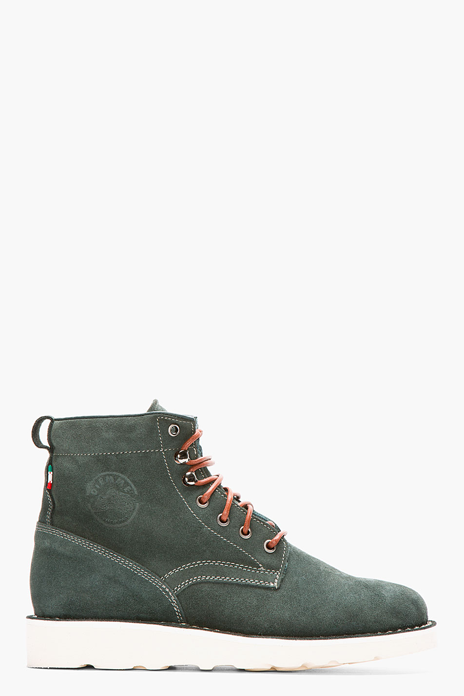 diemme forest green suede firenze boots in green for