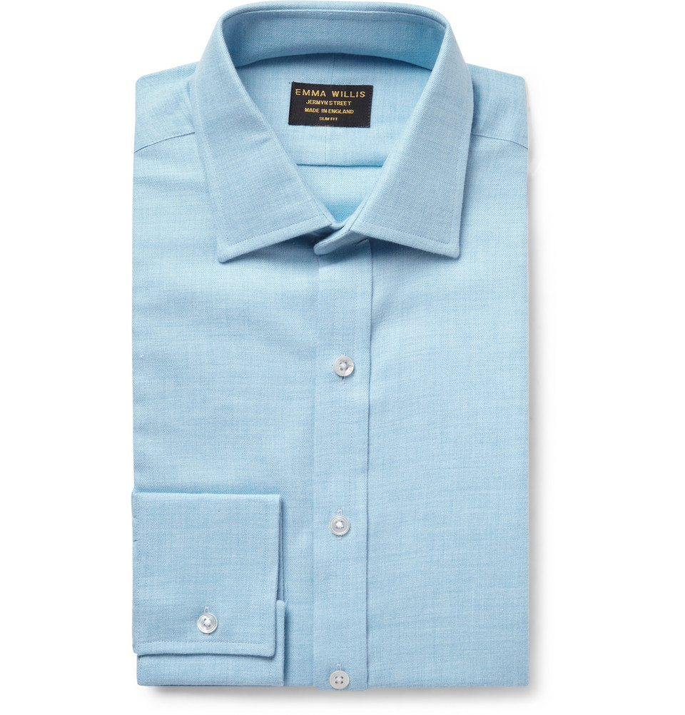emma willis shirts ~ emma willis cotton and cashmereblend shirt in blue for men
